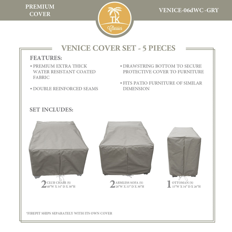 VENICE-06d Protective Cover Set, in Grey