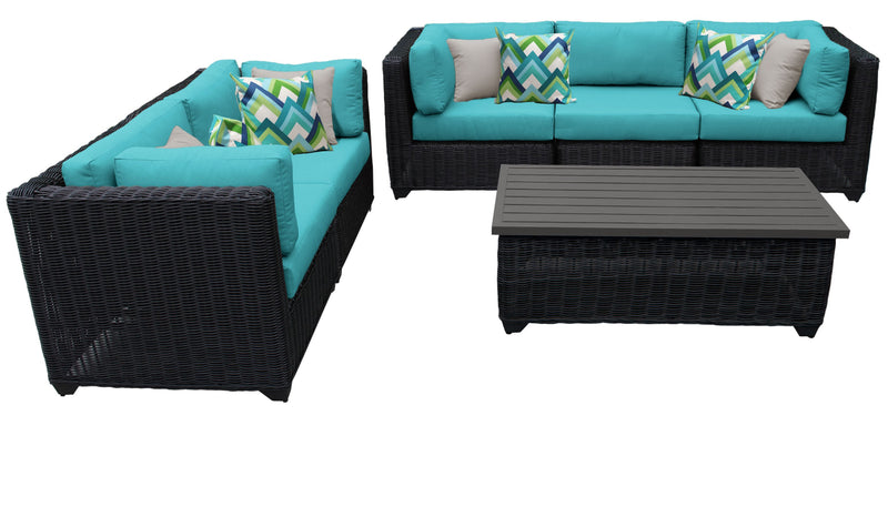 Venice 6 Piece Outdoor Wicker Patio Furniture Set 06f