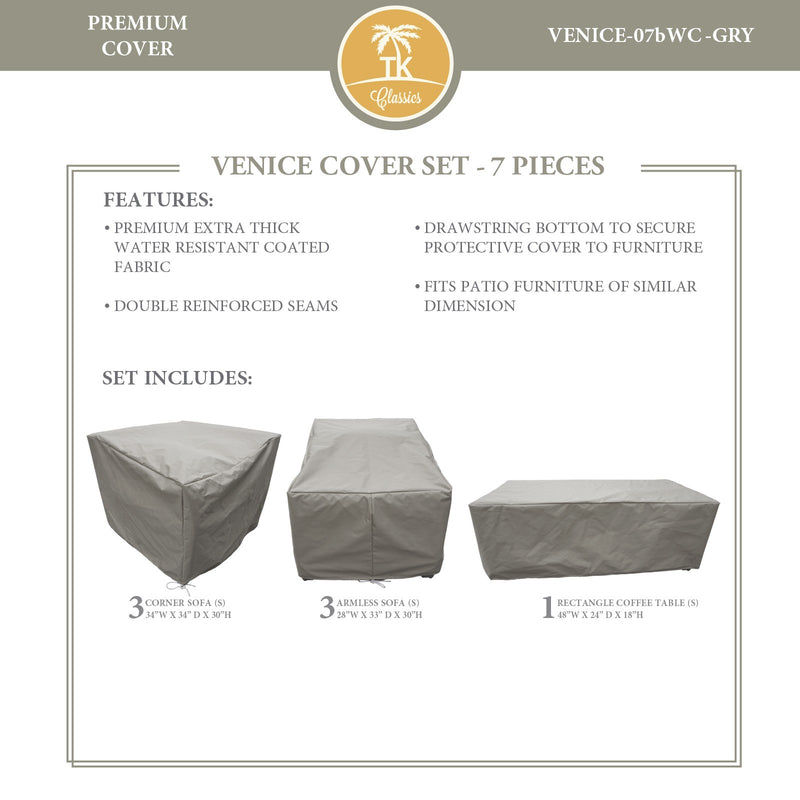 VENICE-07b Protective Cover Set, in Grey