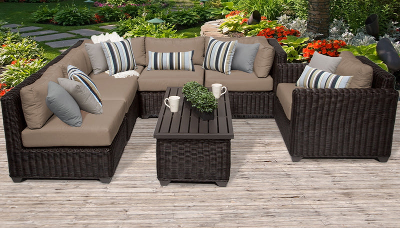Venice 7 Piece Outdoor Wicker Patio Furniture Set 07c
