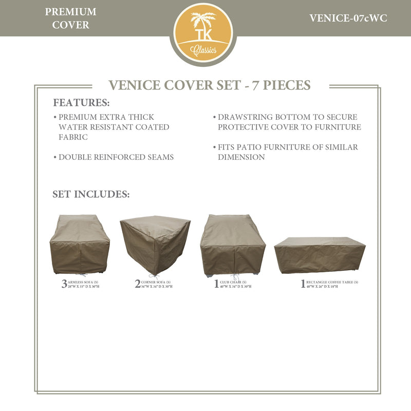 VENICE-07c Protective Cover Set, in Beige