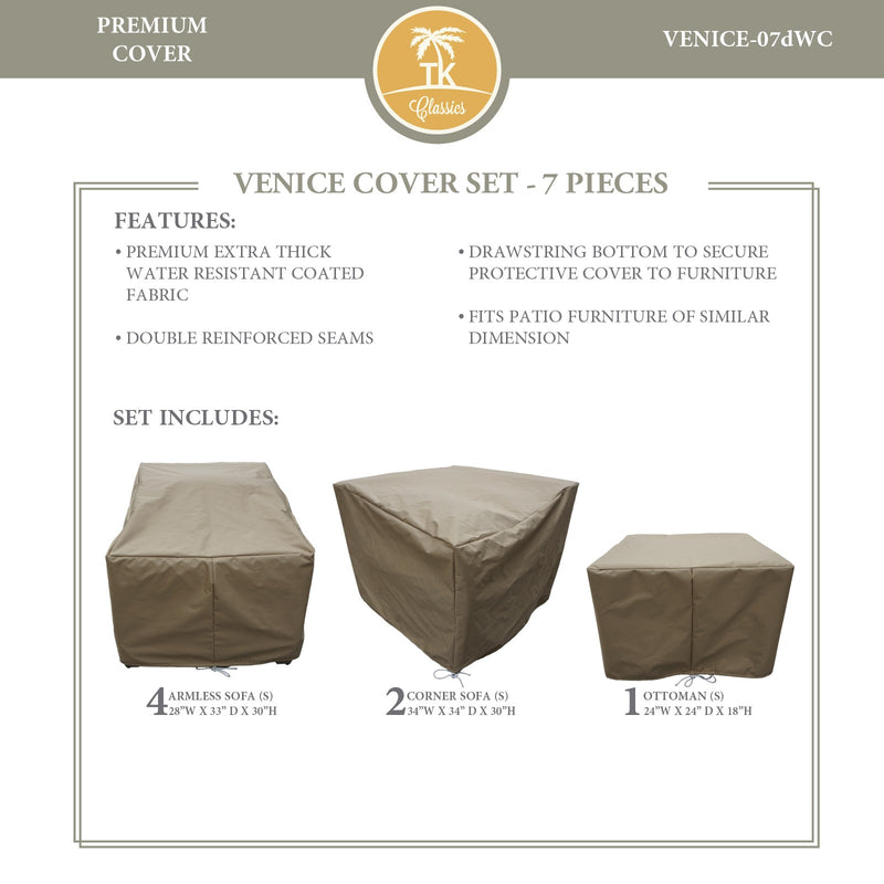 VENICE-07d Protective Cover Set, in Beige