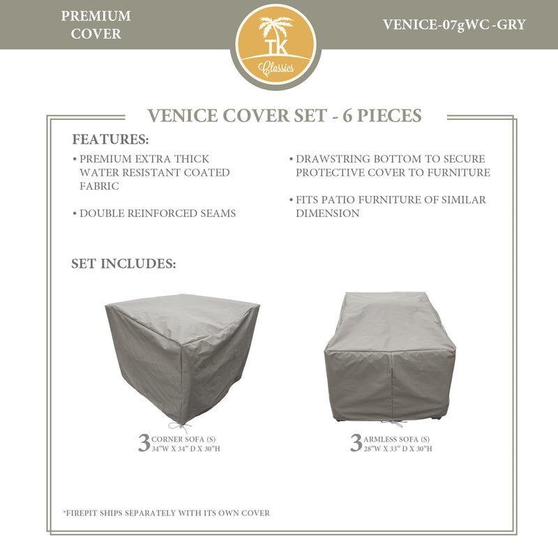 VENICE-07g Protective Cover Set, in Grey