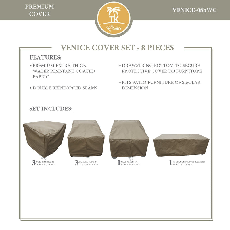 VENICE-08b Protective Cover Set, in Beige