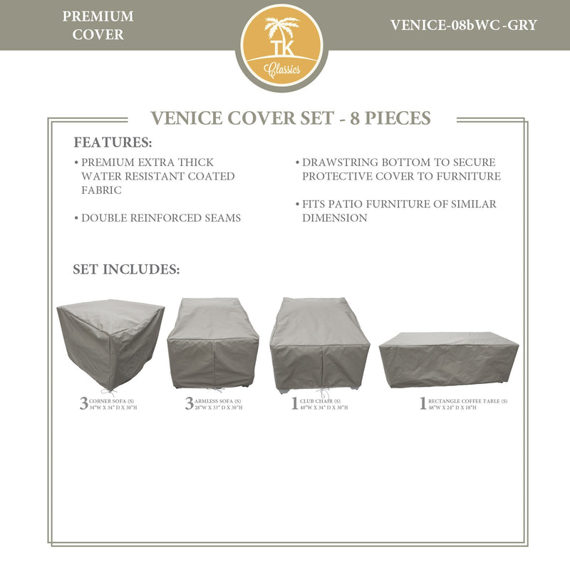 VENICE-08b Protective Cover Set, in Grey