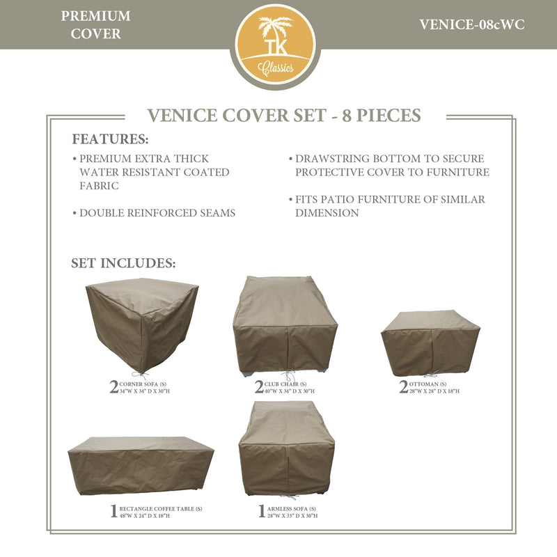 VENICE-08c Protective Cover Set, in Beige