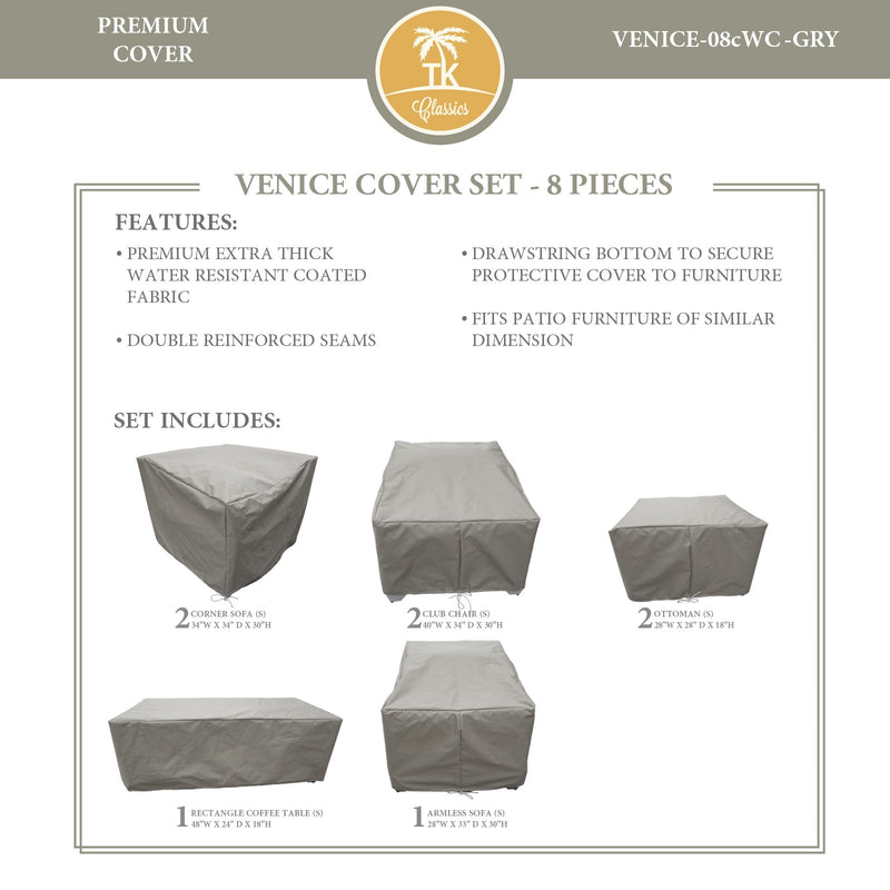 VENICE-08c Protective Cover Set, in Grey