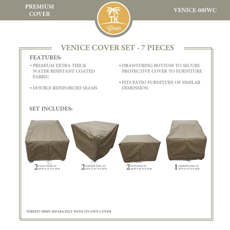 VENICE-08f Protective Cover Set, in Beige
