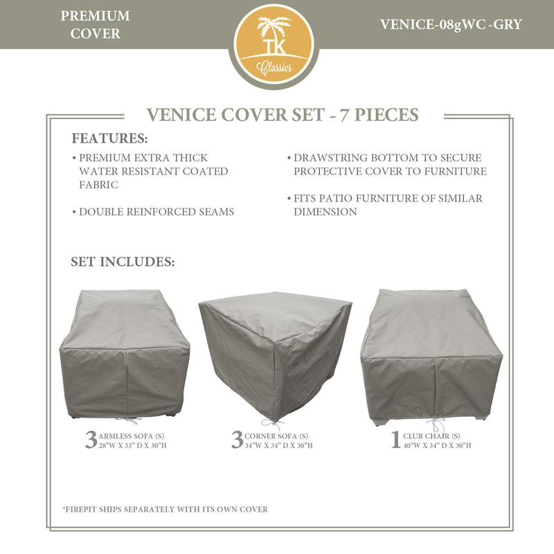 VENICE-08g Protective Cover Set, in Grey