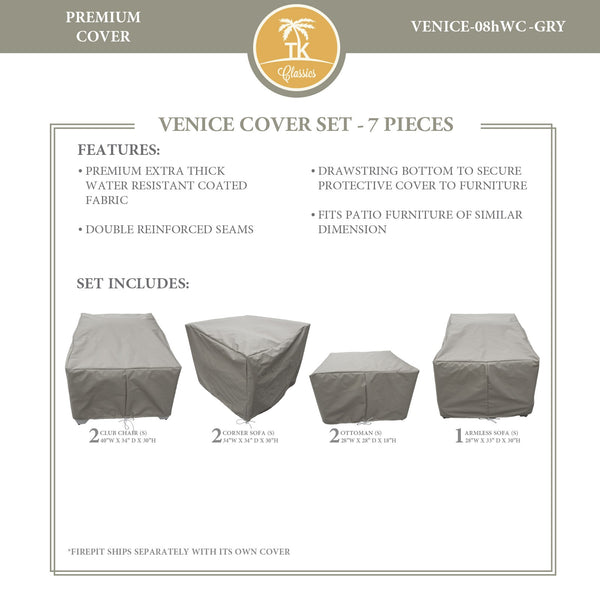 VENICE-08h Protective Cover Set, in Grey