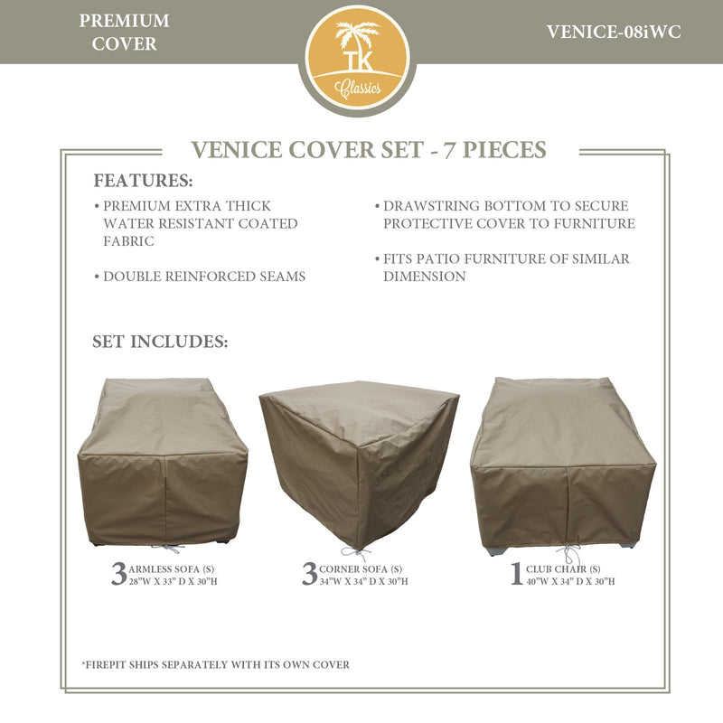 VENICE-08i Protective Cover Set, in Beige