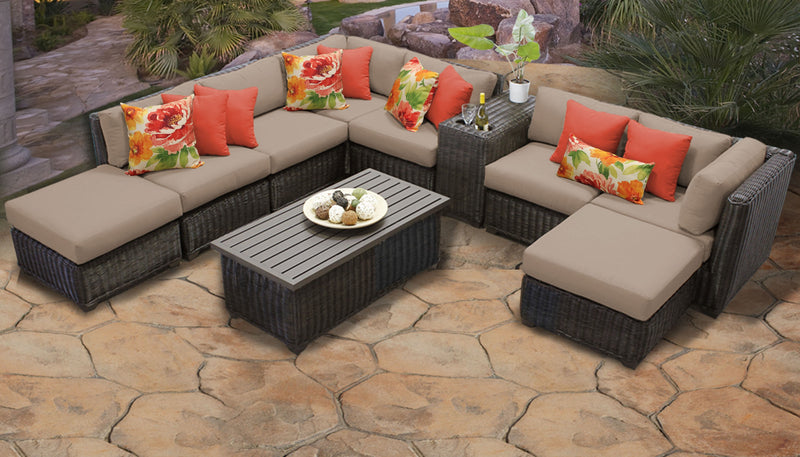 Venice 10 Piece Outdoor Wicker Patio Furniture Set 10a