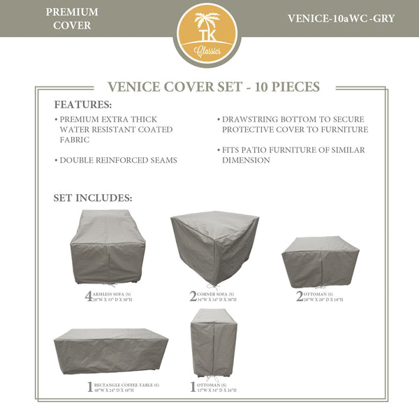 VENICE-10a Protective Cover Set, in Grey
