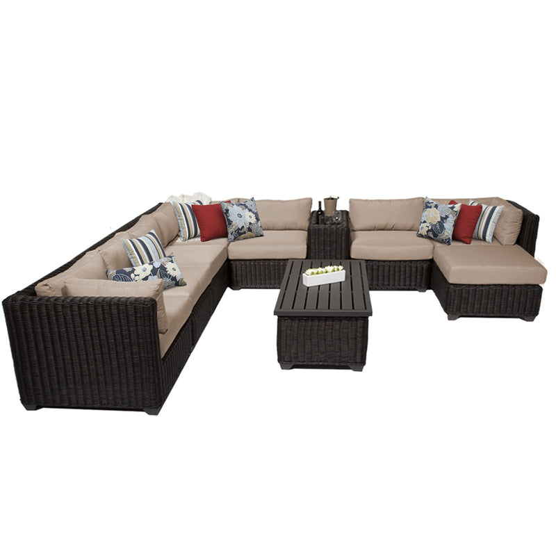 Venice 10 Piece Outdoor Wicker Patio Furniture Set 10b