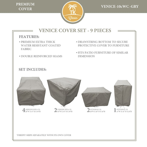 VENICE-10c Protective Cover Set, in Grey