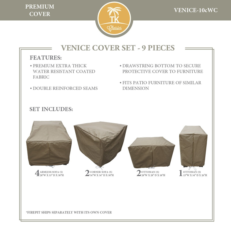 VENICE-10c Protective Cover Set, in Beige