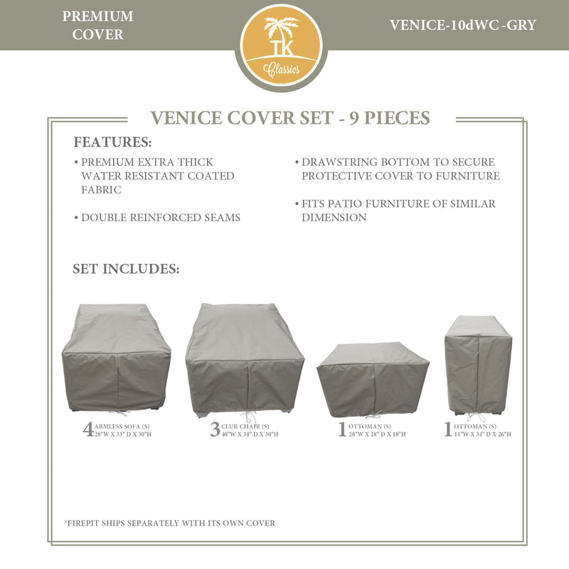 VENICE-10d Protective Cover Set, in Grey