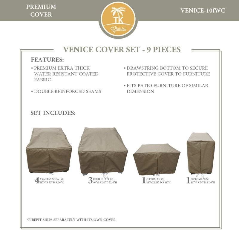 VENICE-10f Protective Cover Set, in Beige