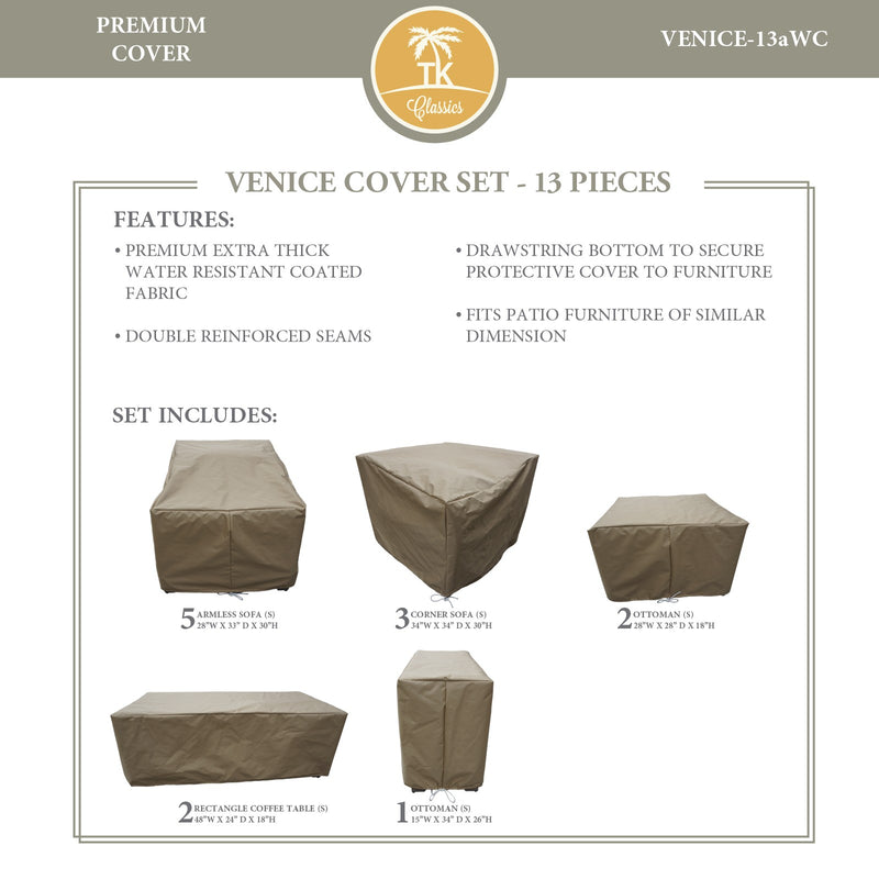 VENICE-13a Protective Cover Set, in Beige
