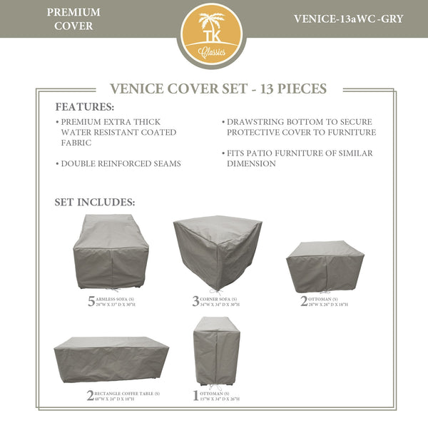 VENICE-13a Protective Cover Set, in Grey