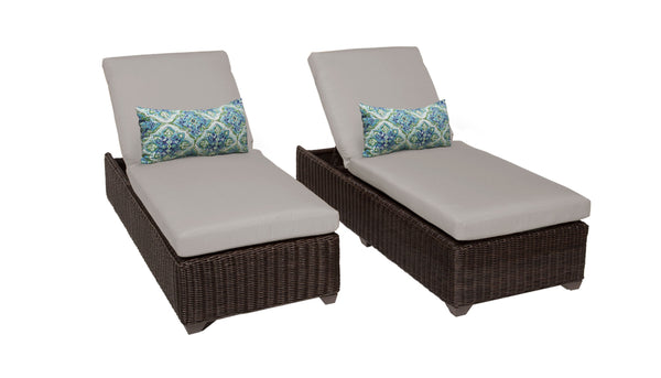 Venice Chaise Set of 2 Outdoor Wicker Patio Furniture