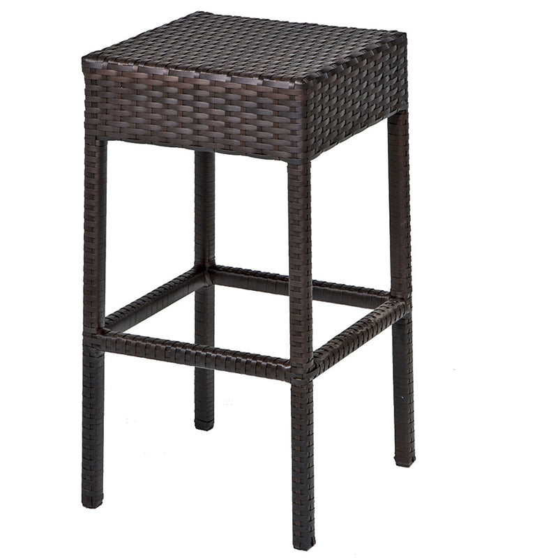 Barbados Bar Table Set With Backless Barstools 7 Piece Outdoor Wicker Patio Furniture