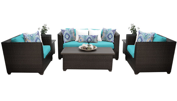 Barbados 7 Piece Outdoor Wicker Patio Furniture Set 07d