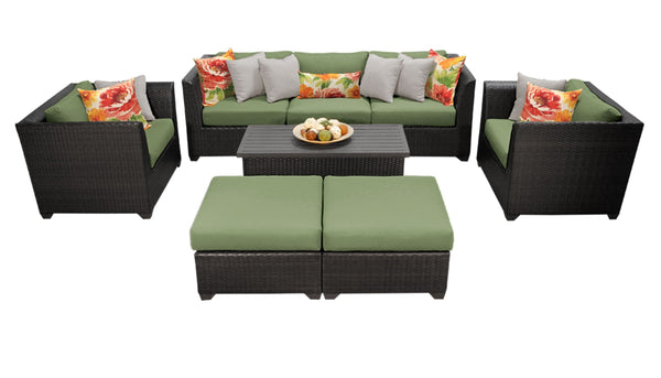 Barbados 8 Piece Outdoor Wicker Patio Furniture Set 08c