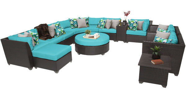 Barbados 12 Piece Outdoor Wicker Patio Furniture Set 12a