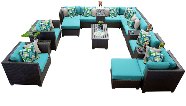 Barbados 17 Piece Outdoor Wicker Patio Furniture Set 17a