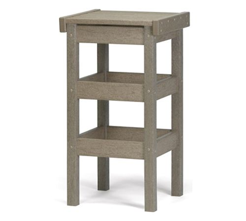"Flat Seat 30"" High Bar Stool by Breezesta"