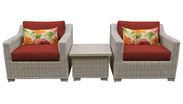 Coast 3 Piece Outdoor Wicker Patio Furniture Set 03a