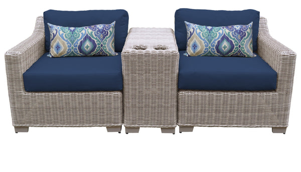 Coast 3 Piece Outdoor Wicker Patio Furniture Set 03b