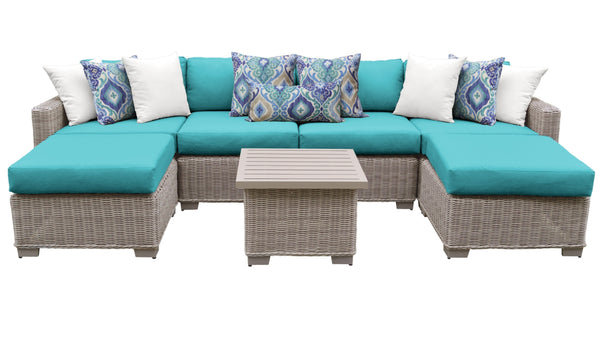 Coast 7 Piece Outdoor Wicker Patio Furniture Set 07a