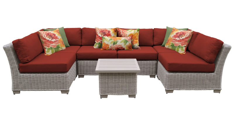 Coast 7 Piece Outdoor Wicker Patio Furniture Set 07c