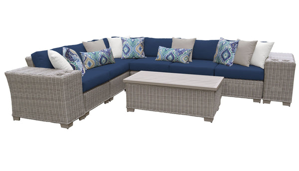 Coast 9 Piece Outdoor Wicker Patio Furniture Set 09b