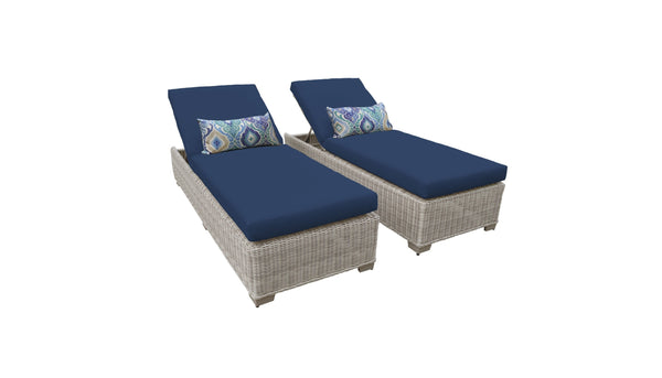 Coast Chaise Set of 2 Outdoor Wicker Patio Furniture
