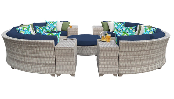 Fairmont 11 Piece Outdoor Wicker Patio Furniture Set 11b