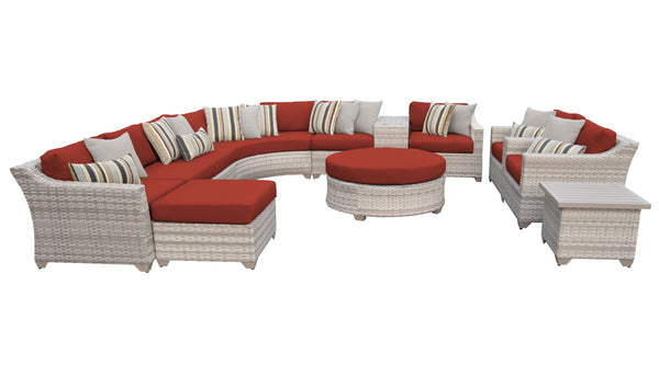 Fairmont 12 Piece Outdoor Wicker Patio Furniture Set 12a
