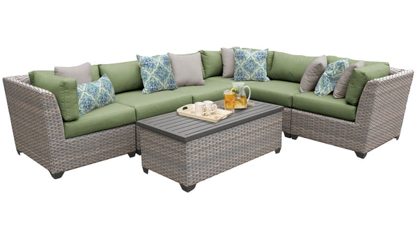 Florence 7 Piece Outdoor Wicker Patio Furniture Set 07b