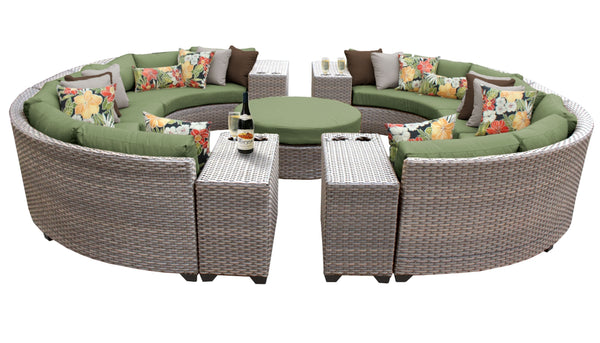 Florence 11 Piece Outdoor Wicker Patio Furniture Set 11b