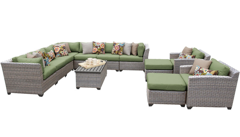 Florence 13 Piece Outdoor Wicker Patio Furniture Set 13a