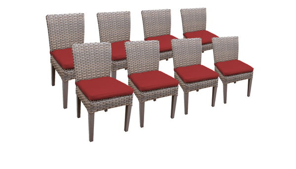 8 Florence Armless Dining Chairs
