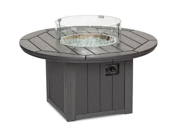 "48"" Round Fire Table, Chat Height by Breezesta"