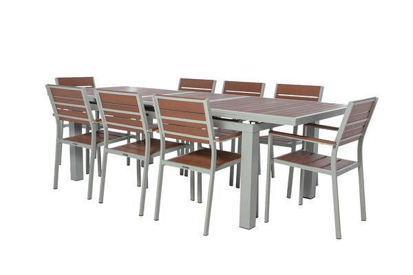 Koro - 9 Piece Dining Set - Extendable Table