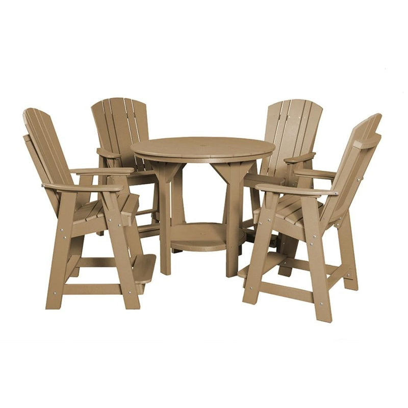 5 Piece Set with 48 inch Round Pub Table and 4 Balcony Chairs by Wildridge