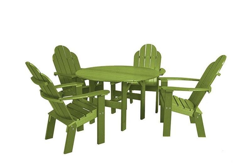 Classic 46 inch Round Patio Table set with 4 Deck Chairs by Wildridge