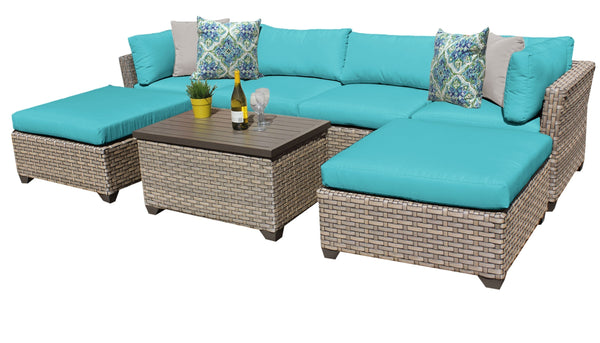 Monterey 7 Piece Outdoor Wicker Patio Furniture Set 07b