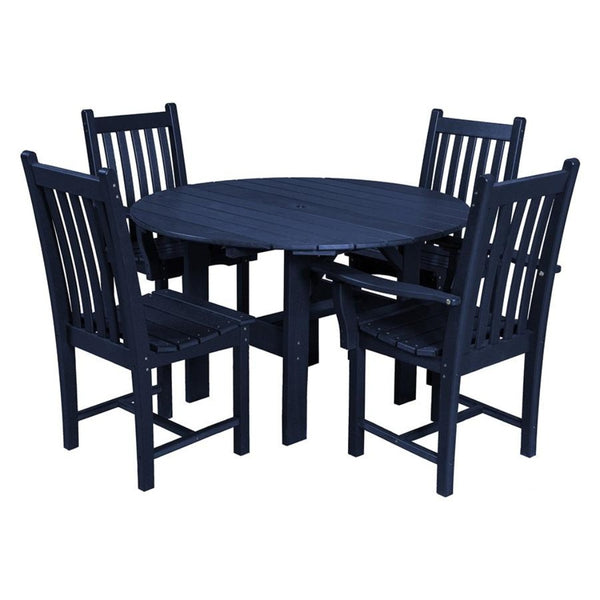 Classic 5-Piece 46 inch Round Patio Dining Set with 2 Side Chairs and 2 Arm Chairs by Wildridge