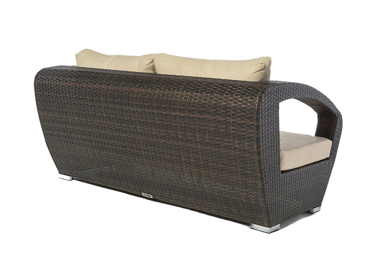 Raki - 4 Piece Conversation Set - Dark Brown Wicker